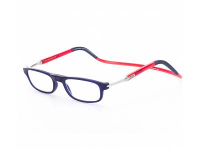 CliC Flex Rectangular - Frosted DarkBlue/Red/DarkBlue